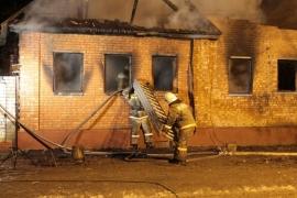 Ликвидация возгорания в Читинском районе
