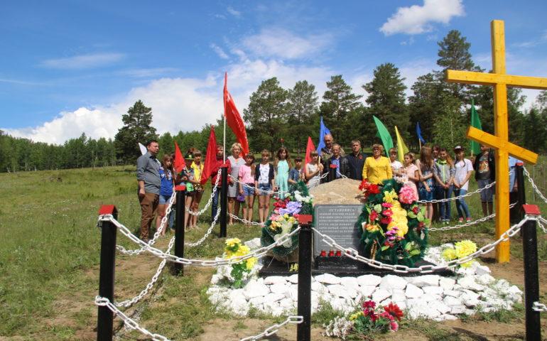 Траурный митинг у «Памятного знака погибшим от ран, полученных на полях сражений» прошел 22 июня 2016 в селе Маккавеево